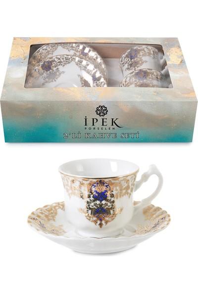 İpek Porselen 2 Kişilik Kahve Fincan Takımı