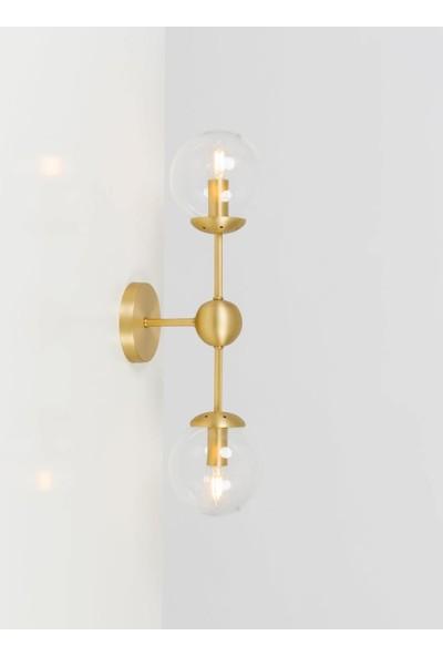 Bahar Cam Küreli Gold Aplik - 1211