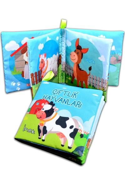 Tox Çiftlik Hayvanları Kumaş Sessiz Kitap T134 - Bez Kitap , Eğitici Oyuncak , Yumuşak ve Hışırtılı