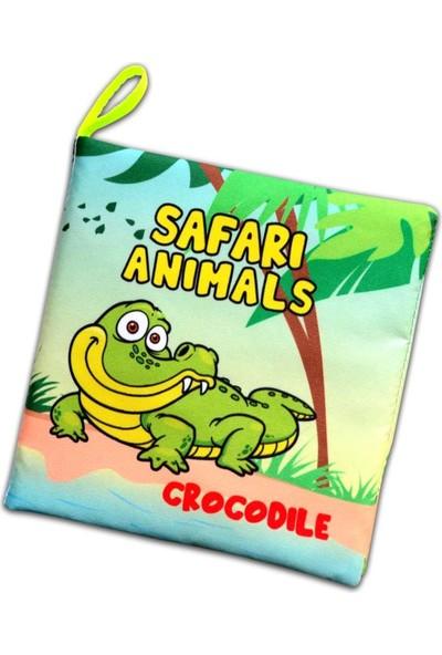 Tox Ingilizce Safari Hayvanları Kumaş Sessiz Kitap E130 - Bez Kitap , Eğitici Oyuncak , Yumuşak ve Hışırtılı