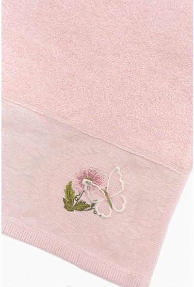 Fiesta Gülşah Kelebek Nakışlı 6lı Soft Havlu Seti cm - Renkli