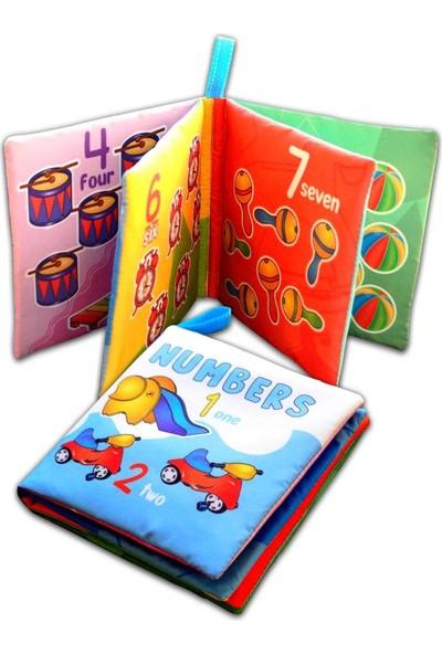 Tox Ingilizce Rakamlar Kumaş Sessiz Kitap E128 - Bez Kitap , Eğitici Oyuncak , Yumuşak ve Hışırtılı