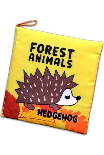 Tox Ingilizce Orman Hayvanları Kumaş Sessiz Kitap E127 - Bez Kitap , Eğitici Oyuncak , Yumuşak ve Hışırtılı