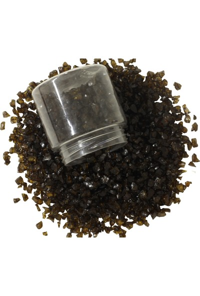 Akcihan Epoksi Reçine Için Renkli Cam Kırıkları Amber Koyu 250 gr 4-8 mm