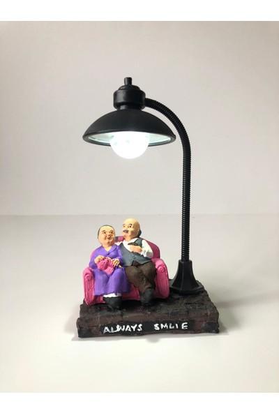 Bent Mutlu Çift Sevgiliye Armağan Romantik Gece Lambası