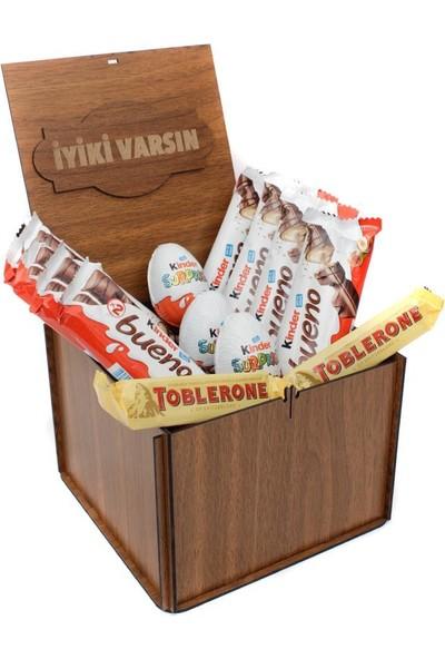 Nostaljik Lezzetler Ahşap Kutu Lux Çikolata Rüyası Iyiki Varsın Yazılı