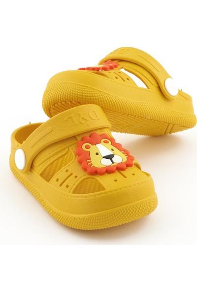 Daye Günlük Kaydırmaz Tabanlı Hayvan Figürlü Çocuk Sandalet Terlik