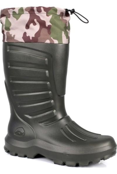 Sonimix Termal Eva -30 Derece Dayanıklı Konçlu Çoraplı 45 No Çizme Haki