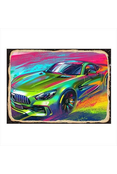 Tablomega Mercedes Yarış Arabası Tasarım Mdf Tablo