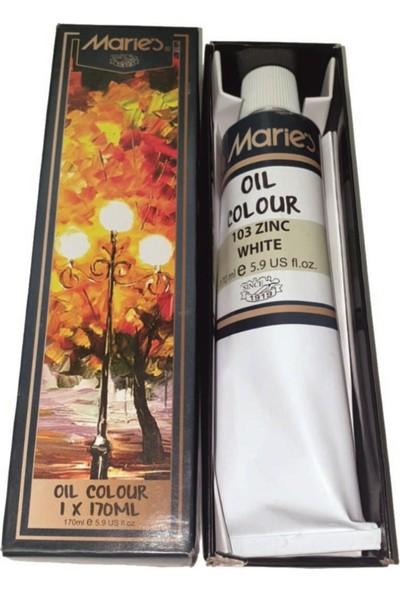 Maries Oil Colour Zinc Chinese White 170 ml