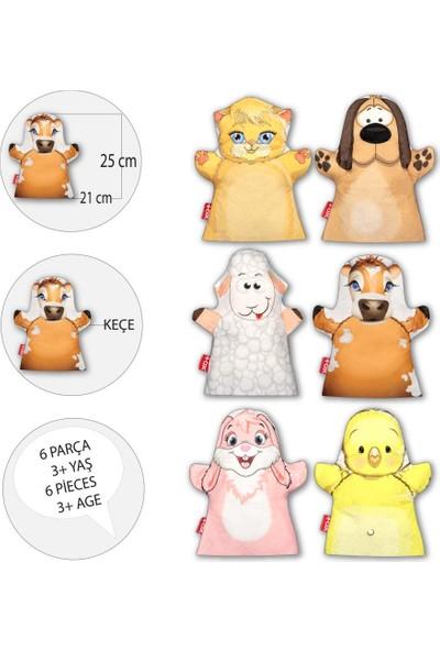 6 Parça Tox Köydeki Dostlarımız El Kukla Set , Eğitici Oyuncak