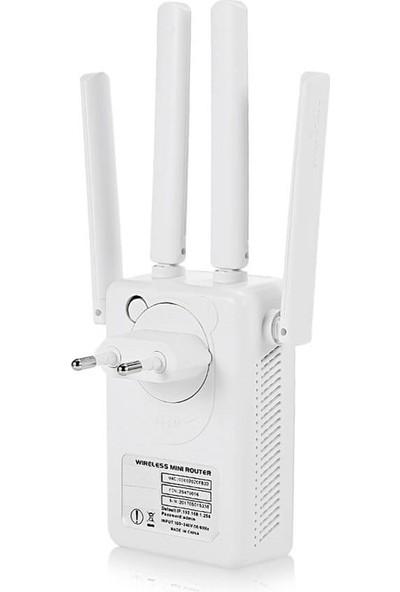 Lineon 300MBPS 4 Antenli Wifi Router Kablosuz Aktarıcı
