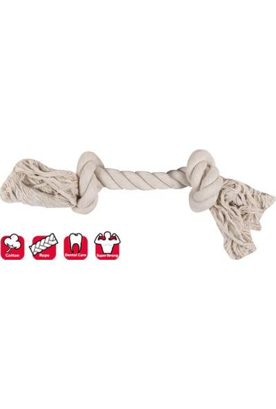 Karlıe 2 Düğümlü Ip Köpek Oyu. S 22 cm Beyaz