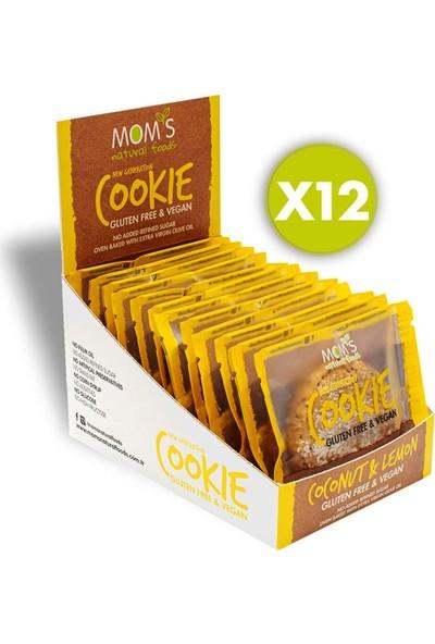 Mom's 12'li Glutensiz Vegan Limon & Hindistan Cevizi Cookie 12'li