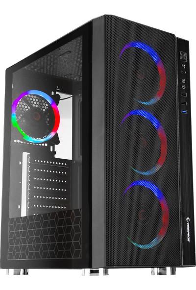 Rampage Carisma 4 Adet Rainbow Fanlı Gaming Oyuncu Bilgisayar Kasası