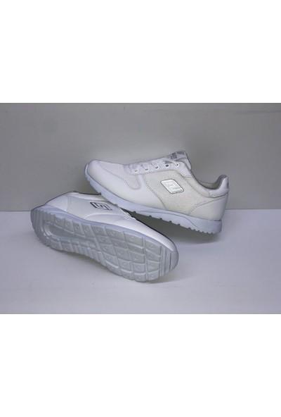 Düz Beyaz Ince Taban Spor Ayakkabı