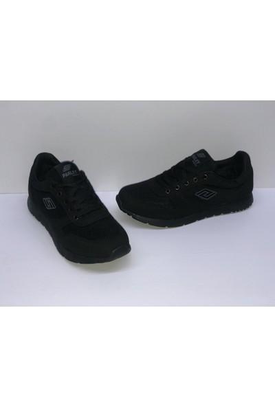 Düz Siyah Ince Taban Spor Ayakkabı