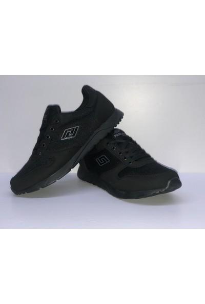 Parley Düz Siyah Ince Taban Spor Ayakkabı