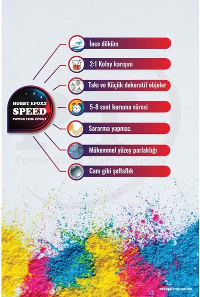 Power Hobi Epoksi Speed/ Hızlı Kuruma/ Şeffaf Epoksi Reçine Ince Döküm1,5 kg