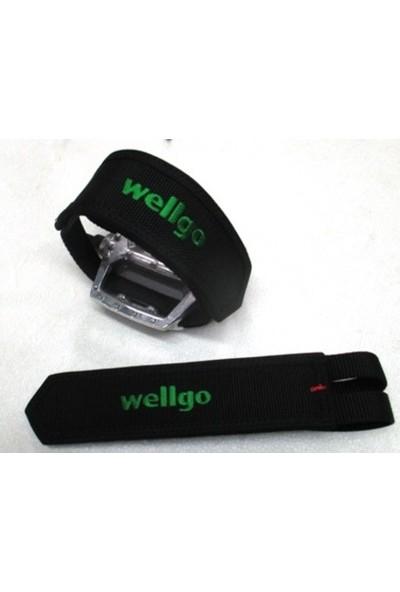 Wellgo Cırtlı Pedal Kayışı Pedal Karpiyeli Ucarbisiklet