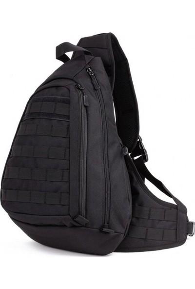 Protector Plus Tek Askılı Taktik Sırt Çantası Siyah 45X34