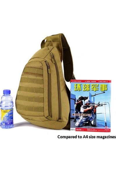 Protector Plus Tek Askılı Taktik Sırt Çantası Haki 45X34