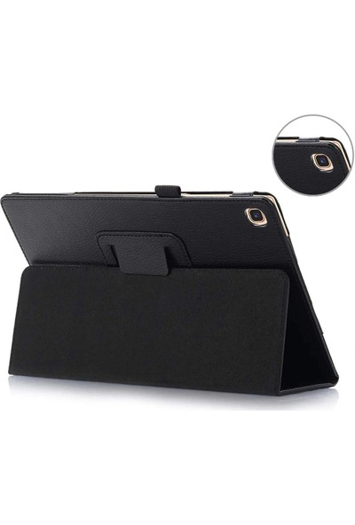 Microcase Samsung Galaxy Tab S6 Lite SM-P610 P610 10.4 Inch Book Case Standlı Deri Kılıf - Siyah
