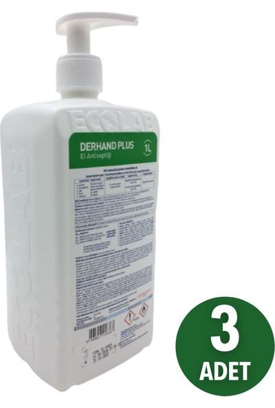 Ecolab Derhand Plus El Dezenfektanı 1 Litre 3 Adet