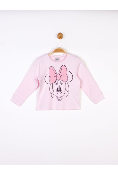 Minnie Mouse Disney Minnie Bebek Uzun Kol Tişört