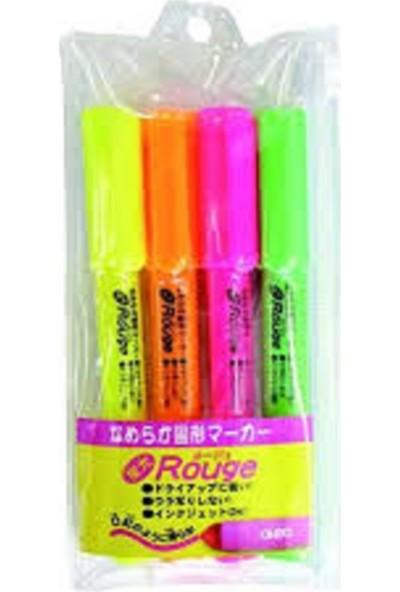 hobi24 Rouge Fosforlu Kalem Seti 4 Renk
