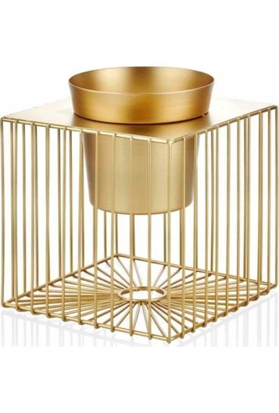 The Mia Saksı Metal Gold 12 x 13 cm