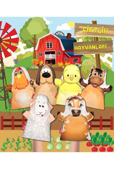 Tox 6 Parça Tox Çiftlik Hayvanları Keçe El Kukla Set , Eğitici Oyuncak