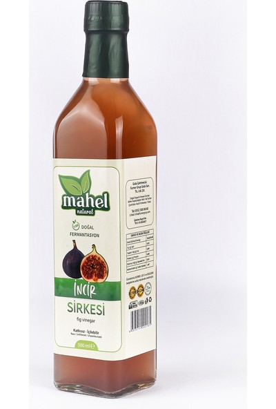 Mahel Natural Incir Sirkesi 500 ml