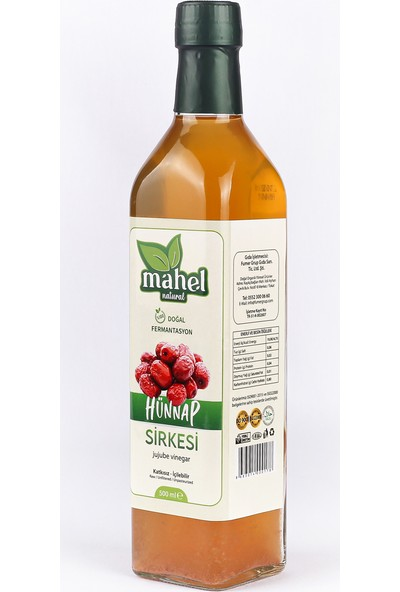Mahel Natural Hünnap Sirkesi 500 ml
