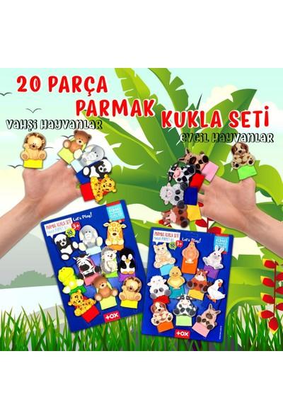 Tox 2 Set - 20 Parça Tox Evcil Hayvanlar ve Vahşi Hayvanlar Parmak Kukla 77-2/78-1