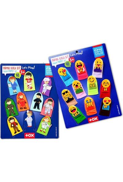 Tox 2 Set - 20 Parça Tox Emojiler ve Meslekler Parmak Kukla 106/76-1