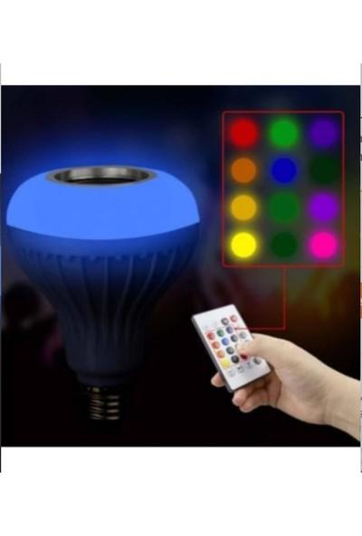 Agb LED Hightek Gece Lambası Bluetooth Hoparlör Rgb Ledli Lamba Kumandalı Mp3 Çalar Ampul