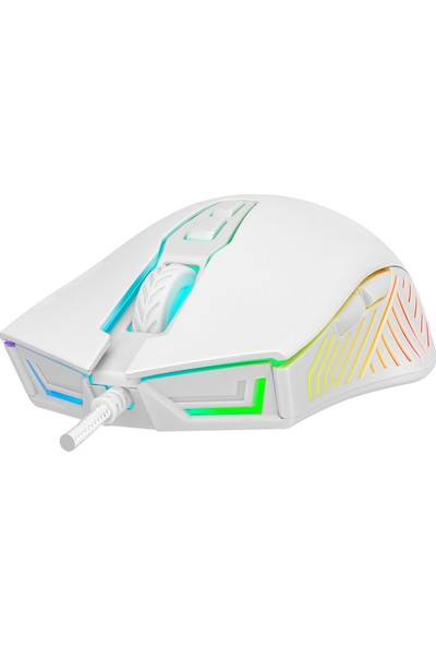 Rampage SMX-G68 Spear Makrolu 7200DPI RGB Ledli Gaming Oyuncu Mouse - Beyaz