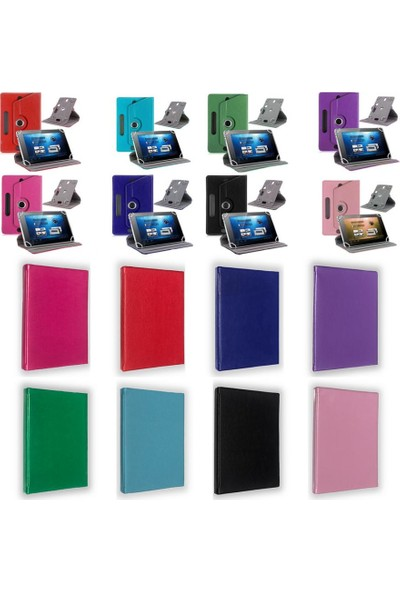 I Stone 360 Dönerli Tablet Kılıfı Galaxy Tab A6 T280 Pembe Pembe Galaxy Tab A6 T280