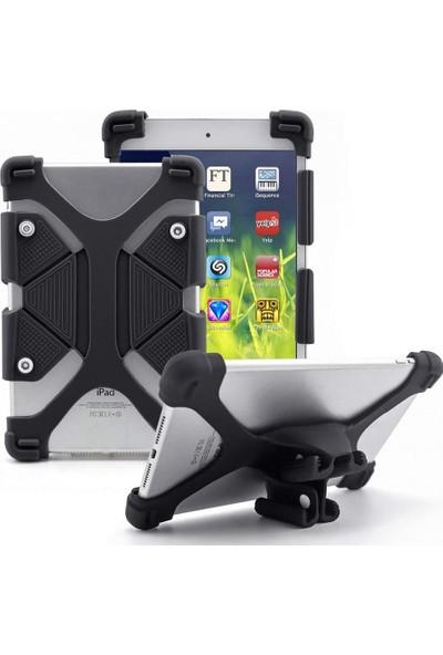 I Stone Standlı Silikon Tablet Kılıfı Galaxy Tab A6 T280 Siyah Siyah Galaxy Tab A6