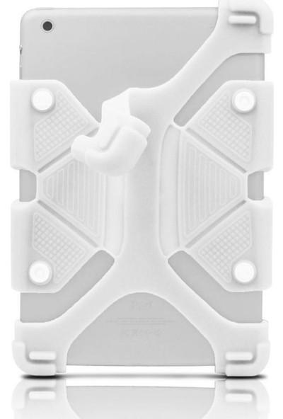 I Stone Standlı Silikon Tablet Kılıfı Galaxy Tab A6 T280 Beyaz Beyaz Galaxy Tab A6