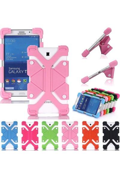 I Stone Standlı Silikon Tablet Kılıfı Galaxy Tab A6 T280 Mavi Mavi Galaxy Tab A6 T280
