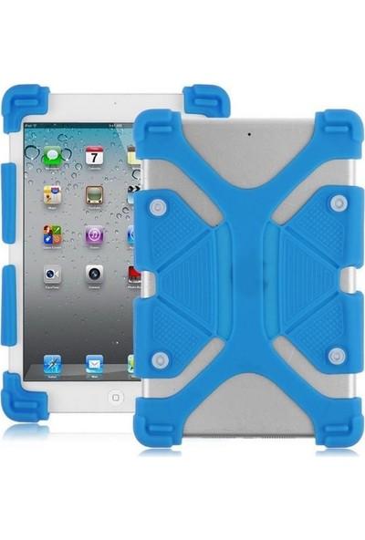 I Stone Standlı Silikon Tablet Kılıfı Samsung Galaxy Note 10.1 P602 Mavi Mavi Samsung