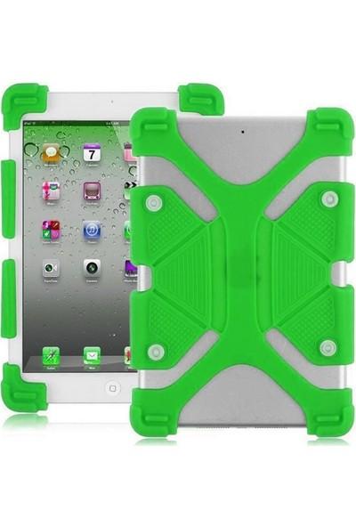 I Stone Standlı Silikon Tablet Kılıfı Galaxy Tab A6 T280 Yeşil Yeşil Galaxy Tab A6