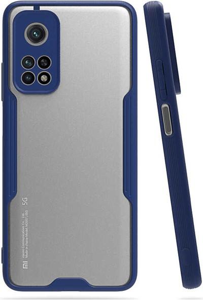 Herbütçeye Xiaomi Mi 10T Pro 5g Ince Mat Parfe Sert Kapak - Lacivert