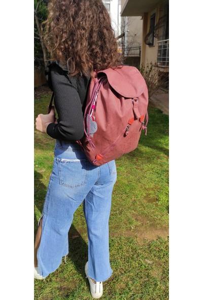 Smart Bags 103081 Kiremit Denim Kumaş Sırt Çantası