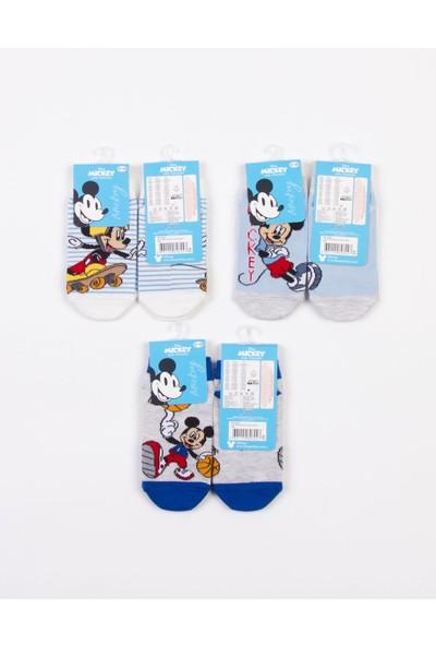Mickey Mouse Disney Mickey Lisanslı 6 Çift Patik Çocuk Çorap 18206