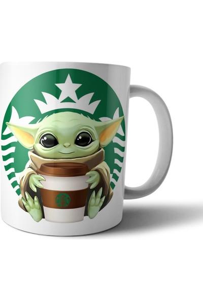 Pixxa Baby Yoda Grogu Starbucks Kupa Bardak