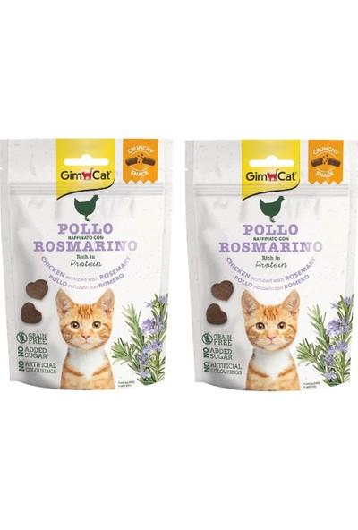 Gimcat Crunchy 2 Adet Snacks Chicken & Rosmery Kedi Ödülü 50 gr Tahılsız