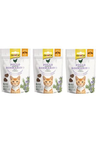 Gimcat Crunchy 3 Adet Snacks Chicken & Rosmery Kedi Ödülü 50 gr Tahılsız